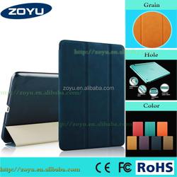 Premium crazy horse grey leather case for ipad air case