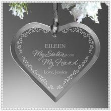 Wedding Souvenir Unique Glass Ornament For Christmas Guests Gift