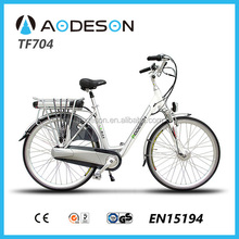 City electric bike TF704 with 250w geared hub motor bike/electric bicycle SGS EN15194 certificates