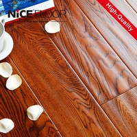 OEM Hand scratched german technology hdf waterproof decorative laminated floor 12mm ac3 laminate wooden flooring