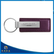 Fashion metal and leather key chain/ make you own logo metal key chain with high quality leather