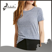 Cotton fabric plain t shirts with short sleeve