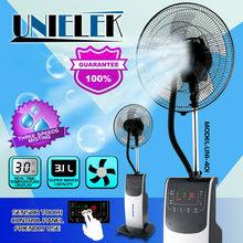 2015 new fashion design water evaporative cooling fan water spray fan misting nozzles mist fan