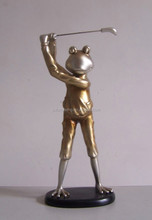 The Frog Prince sculpture golf statue handmde decoration