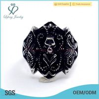 movable stainless steel ring,skull stainless steel ring,stainless steel rings for men
