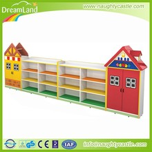Kids wooden storage toy cabinet,used daycare furniture for sale
