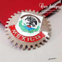 2014 metal car badge,metal mexico badge of car logo with 3D