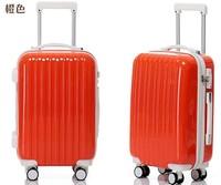 Colorful Orange Girls Travel Luggage Lightweight Hard Shell Luggage