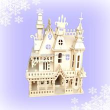 Fantastic Villa House Doll Wooden House 3D DIY Dollhouse Puzzle 1000 Miniature Furniture Dollhouse