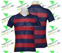 hot sale club 2015/2016 new design blue red soccer jersey , football shirt maker soccer jersey