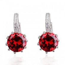 bali diamond colored hoop earrings AAA CZ stone earrings