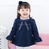 50095 baby woolen dress winter boutique girl baby graceful jacket for formal dress