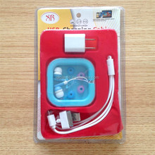 2015 mobile phone accessories sport earphone and data cable