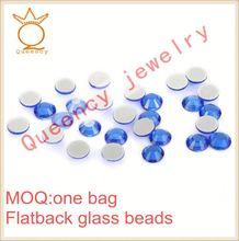 Polishing stone glass for jewelry pointback glue on stone glass