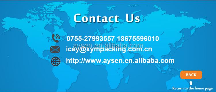 제조소 투명 PVC 봉투 봉투 버튼
