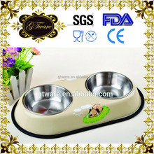 2015 Hot sale stainless steel double pet bowl for food and water