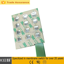 Custom 0.6-1mm metal snap dome keypad button plastic material membrane switch keyboard products
