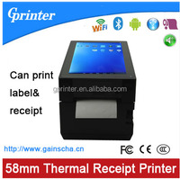 9 inch touch sreen 80mm receipt label printer