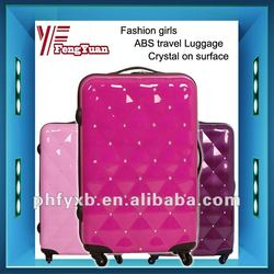 China alibaba 2014 fashion rhinestone girls luggage/luggage sets for girls/cute girl luggage