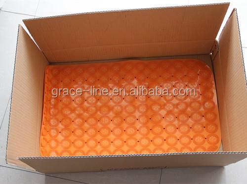 SQUARE DESIGN COLORFUL PVC BATH MAT