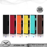 Original Multi Color 15W mini box mod ecig with ego adaptor electronic cigarette