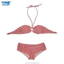 Sexy ladies stripe beach bikini