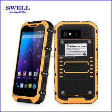High cost Mobile phone with Alps A9 rugged phone GPS ip68 waterproof quad core 1g ram 16g rom industrial pda sim card