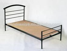 moderno de hierro forjado y madera cama individual