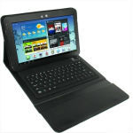 Bluetooth 3.0 Silicone Keyboard Protective Leather Case for Samsung Galaxy Tab 10.1 P7510 / N8000