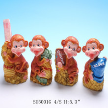 custom high quality hand painted lovely monkey shaped resin handy craft