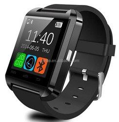 Bluetooth Android Smart Mobile Phone U8 Wrist Watch - Black