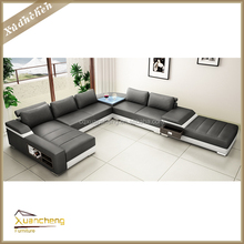 genuine leather u shaped sectional sofa,XC-ALT-AL225-1