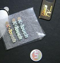 Logotipo de metal con láser, logotipo holograma metálico