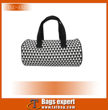 Weekend duffel bags made in printed elastic satin