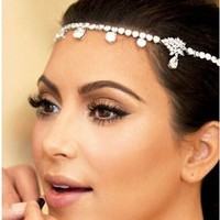 DINAH Fashion crystal bridal hair accessories vintage wedding Tiara Hair Jewelry Wholesale XB05