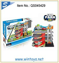 2015 new style toy slot car parking lot toys with 2pcs diecast car