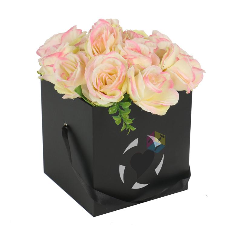 Origami black cube packaging luxury flower box buy luxury flower origami black cube packaging luxury flower box mightylinksfo