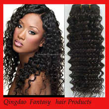 High feedback in stock double layer human hair 12 to 22 inch kinky curl sew in hair weave