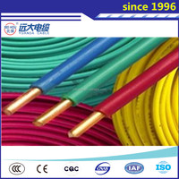 Solid single stran 1.5mm 2.5mm 4mm 6 mm copper electrical wire 450/750v PVC insulated cheap electrical cable wire,copper cable