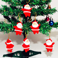 2015 hot selling christmas decoration christmas santa claus ornaments festival party Xmas tree hanging decoration-red