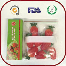 Customized small coin ziplock bag apple brand with best price