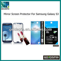 Manufacturer! Galaxy S3 Mirror Screen Protector For Samsung Galaxy S3