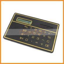 None Battery mini slim card solar power pocket calculator