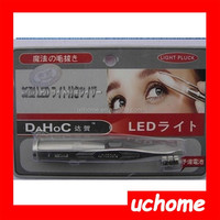 UCHOME Hot selling led eyebrow clip/eyebrow tweezers with magnifier/Stainless Steel eyebrow clip with led light