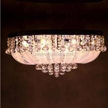 Vintage crystal led radial pattern ceiling lamp