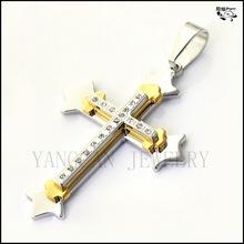 Christianity men's 316l stainless steel three cross pendant