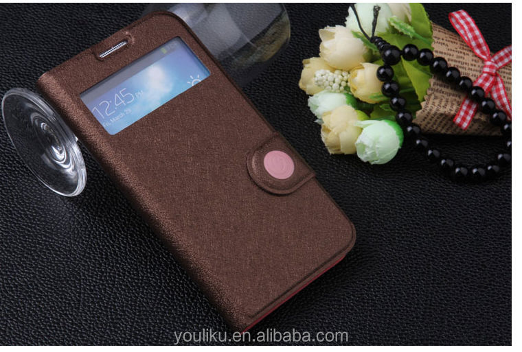 2014 new arrival whoesale fashion smart window mobile case for sumsung case s4 i9500