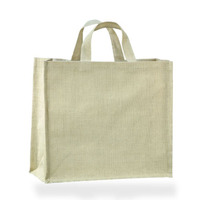 Handmade plain cotton fabric shopping bag with tote
