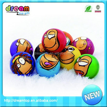 Colorful factory wholesale 6.3cm pu mini table basketball game