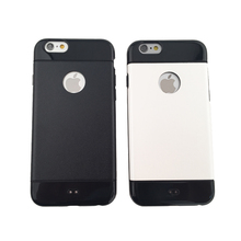 Factory direct wholesale PC Hard plastic round hole leather case for iphone 6s/6